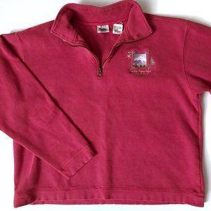 VINTAGE Rocky Mountain Cropped Sweatshirt